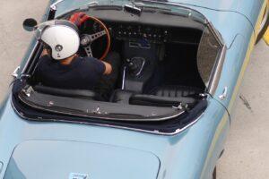 CRISTIANO LUZZAGO DRIVE WITH US 2021 AUTODROMO DI MODENA JAGUAR E TYPE ROADSTER (2)
