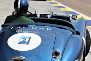 CRISTIANO LUZZAGO DRIVE WITH US 2021 AUTODROMO DI MODENA JAGUAR XK 120 ROADSTER (1)