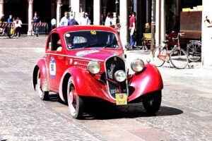 fiat 508 berlinetta 1000 miglia aerodinamica www.cristianoluzzago.it brescia italy 70arrivo