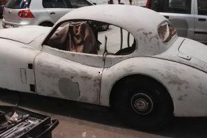 jaguar xk 120 restauro 32