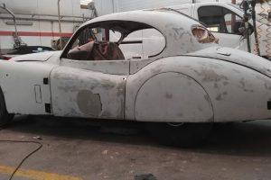 jaguar xk 120 restauro 34