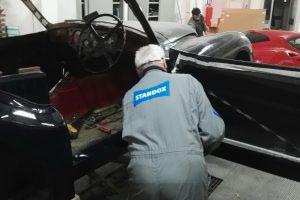 jaguar xk 120 restauro 62