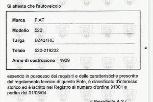 FIAT 520 TORPEDO 1929 www.cristianoluzzago.it Brescia Italy (28)