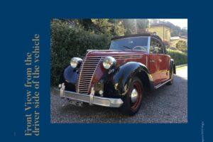 FIAT 1100 STELLA ALPINA CABRIOLET MONVISO 1947 1000 miglia www.cristianoluzzago.it Brescia (46)
