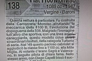 FIAT 1100 STELLA ALPINA CABRIOLET MONVISO 1947 1000 miglia www.cristianoluzzago.it Brescia (55)
