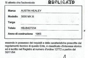 AUSTIN HEALEY 3000MK3 www.cristianoluzzago.it Brescia Italy (28b