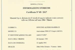 1961 MASERATI 3500 GT TOURING SUPERLEGGERA www.cristianoluzzago.it brescia italy (66)