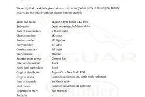 JAGUAR E TYPE S1 4200 ROADSTER www.cristianoluzzago.it brescia italy (52 Heritage Trust