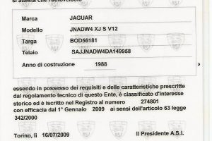 1988 JAGUAR XJ SC V12 www.cristianoluzzago.it brescia italy (27