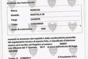 1988 MARCOS MANTULA 3500 V8 www.cristianoluzzago.it brescia italy (35