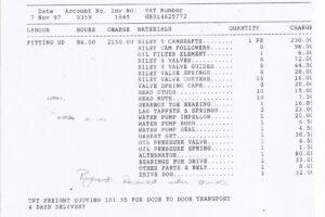 1997 ENGINE OVERHAULING