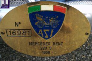 1958 MERCEDES BENZ 220S W180 CONVERTIBILE www.cristianoluzzago.it Brescia italy (55)