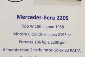 1958 MERCEDES BENZ 220S W180 CONVERTIBILE www.cristianoluzzago.it Brescia italy (64)