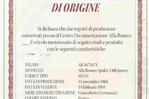 ALFA ROMEO SPIDER 1300 JUNIOR LONG TAIL www.cristianoluzzago.it Brescia italy (66)
