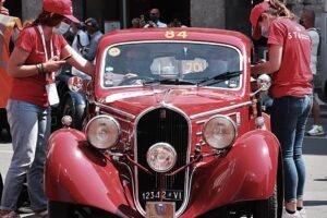 02 VILLAGGIO 1000 MIGLIA 0C1000 MIGLIA 2021 FIAT 508 BERLINETTA AERODINAMICA CRISTIANO LUZZAGO