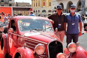 02 VILLAGGIO 1000 MIGLIA (2)1000 MIGLIA 2021 FIAT 508 BERLINETTA AERODINAMICA CRISTIANO LUZZAGO CESARE MERONI