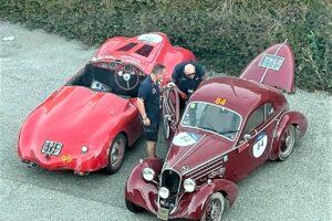 08 ROMA CONTROLLI (3) 1000 MIGLIA 2021 FIAT 508 BERLINETTA AERODINAMICA CRISTIANO LUZZAGO