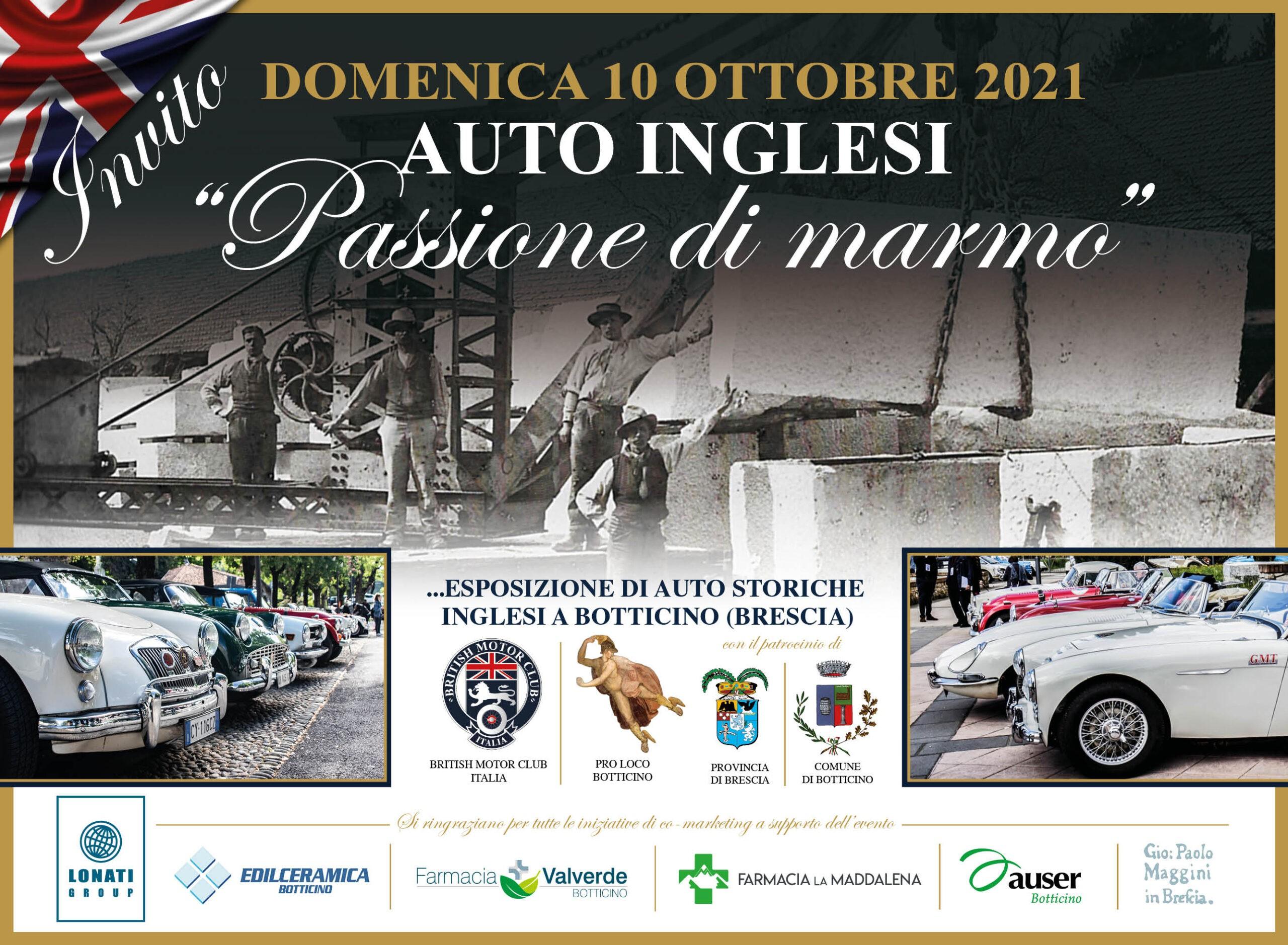 """BRITISH MOTOR CLUB ITALIA AUTO INGLESI """"Passione di Marmo"""""""
