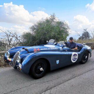 Reached Sicily for Giro di Sicilia, now at Monte Pellegrino, Palermo surroundings.  #girodisicilia #xk120roadster #raduniautostoriche #jaguarxk120 #jaguar #englishcar #britishcars #vintagecar #sixcilinder #speed #carpassion #englishbeauty #1952cars #drivetastefully #autodepoca #classicjaguar #voitureclassique #autoart #rarecars #classicdriver #retromobile #retrocar #oldwheels