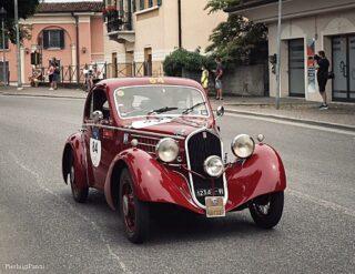 Great pic by @plp534394, thank you!   #1000miglia #millemiglia #millemiglia2021 #fiatberlinetta #balilla #1935 #fiatlovers #508 #gareclassiche #italiancars #italianbeauty #drivetastefully #rarecars #oldtimer #carcollector #drivetastefully #regularityrace #fiatlove #autostoriche #oldwheels #asitargaoro #brescia