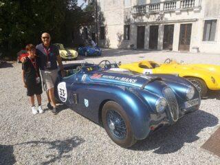 Filippo and me at La leggenda di Bassano in Jaguar XK120.  @leggendadibassano #leggendadibassano #laleggendadibassano2021 #xk120roadster #raduniautostoriche #jaguarxk120 #jaguar #englishcar #britishcars #vintagecar #sixcilinder #speed #carpassion #englishbeauty #1952cars #drivetastefully #autodepoca #classicjaguar #voitureclassique #autoart #rarecars #classicdriver #retromobile #retrocar #oldwheels